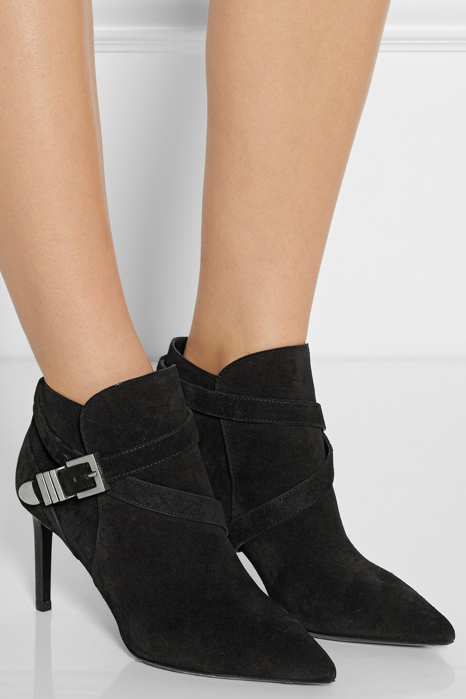 Saint Laurent Suede ankle boots – 40% at THE OUTNET.COM