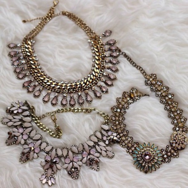 jewels necklace choker necklace stone gold chain