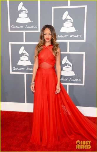dress red dress red prom dresses rihanna redcarpet dress red