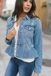 jacket,jean jackets,peplum,blue jeans