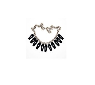 grey jewels black jewels necklace white jewels