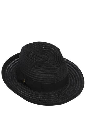 hat straw hat black