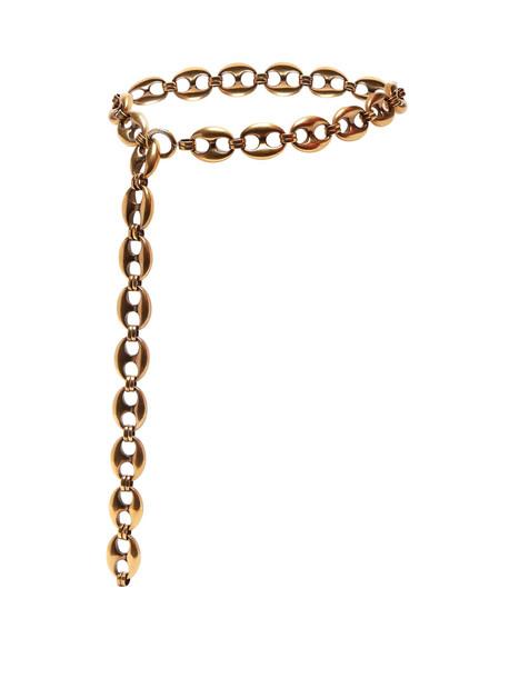 BALENCIAGA Exaggerated chain belt in gold