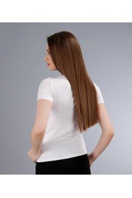 FashionUp! - Tricou YOKKO din jerse elastic cu jabou de voal - Alb yk_TZB-PKA - FEMEI, Topuri, Tricouri & Maiouri