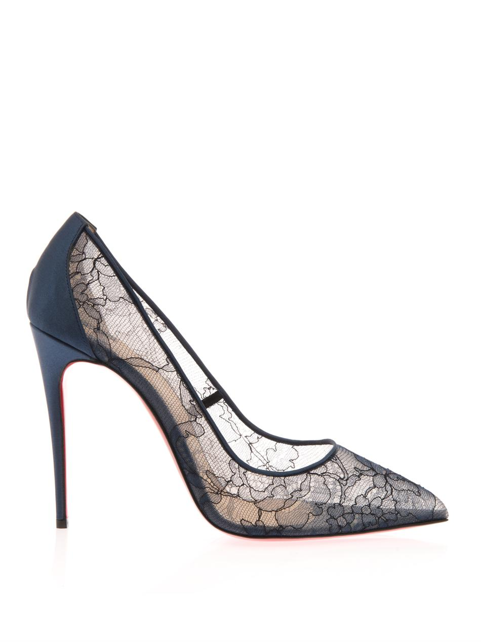 Follies 100mm lace pumps | Christian Louboutin | MATCHESFASHIO...