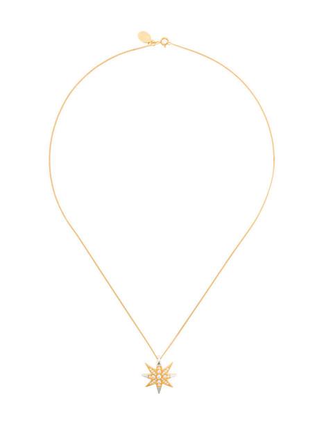 V Jewellery women necklace pendant gold silver yellow orange jewels