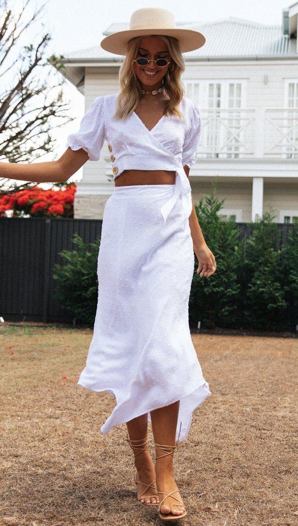 Panama Skirt (White)
