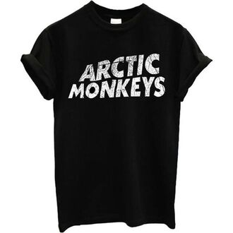 t-shirt black rock grunge indie monkeys arctic arctic monkeys