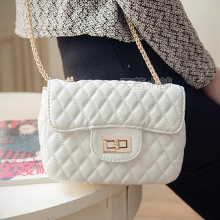 Chain-Strap Quilted Shoulder Bag - Skyblue | YESSTYLE