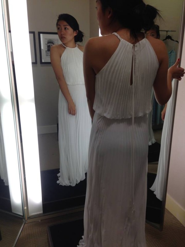 dress prom white dress grecian maxi white prom dress high neck cinched waist