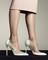 Faced' mint green and beige single sole pump. 10cm he – bionda castana online store