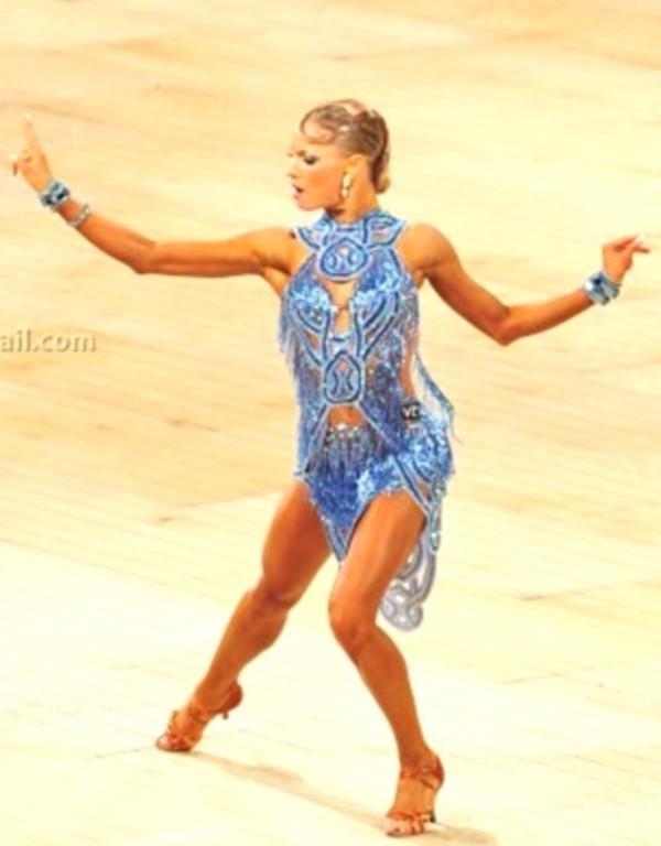 Dress Blue Swarovski Latin Dance Dress Yulia