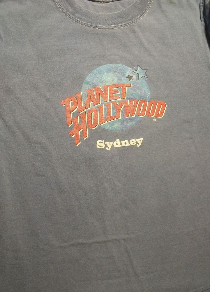 Vintage planet hollywood sydney australia t shirt size l for Planet hollywood t shirt