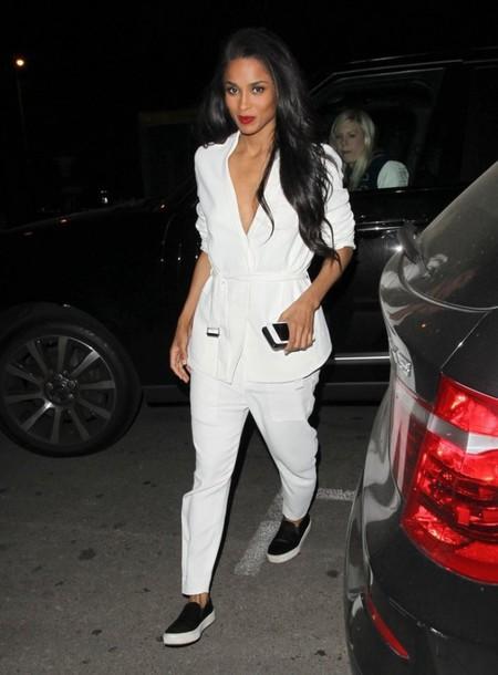jacket pants blazer ciara flats white
