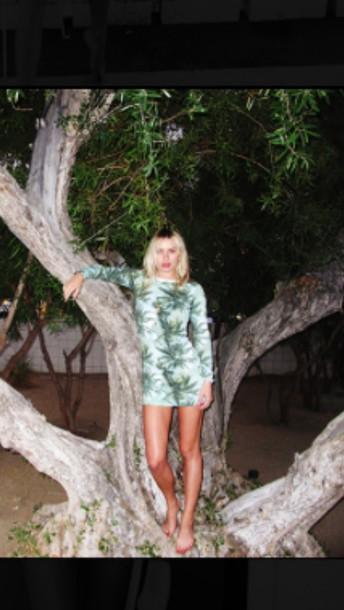 dress green palm tree print palm tree print palm tree green dress