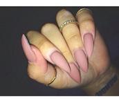 make-up,nails,nail polish,matte nail polish,matte,pink,nude,rose