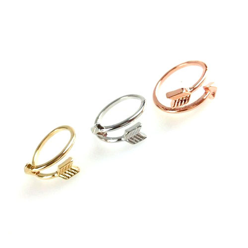 Wrap around cupids arrow ring