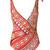 Moschino - embroidery print swimsuit - women - Polyester/Spandex/Elastane - 1, Yellow/Orange, Polyester/Spandex/Elastane