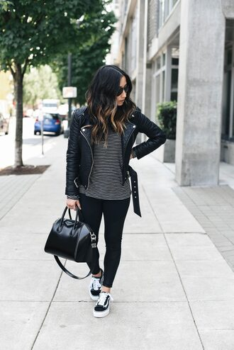 shoes sneakers givenchy vans skinny jeans hold-all perfecto blogger blogger style