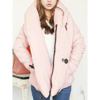 coat baby pink uzzlang bomber jacket winter outfits asian rose wholesale