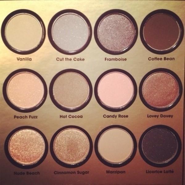 nail polish eye shadow nude makeup palette party make up make-up