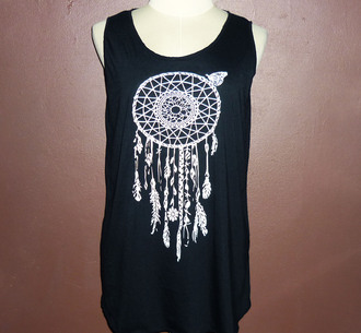 tank top dream catcher awesome stuffs tanktops t-shirt shirt clothes women clothing teen clothing singlet sleeveless black tee black tees teen fashion women fashion native american american apparel american indian drees outfit vintage fit me african african style desing awesome style racerback wishlist you rock summer spring outfits unique dress screen print women wear legends generation tee teen girl women women shirts workout loose tshirt loosefit yoga top