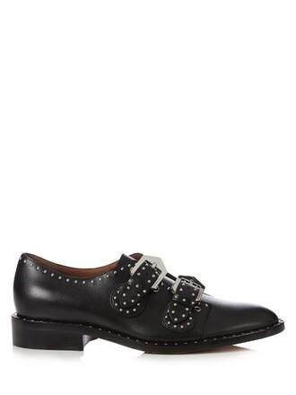 embellished loafers leather black shoes