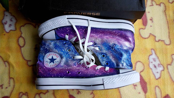 4d22626d231ca1 Galaxy Converse Converse high top custom galaxy shoes women ...
