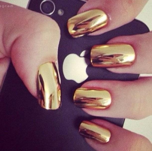 Gold Chrome Nail Polish Gold Chrome Gel Nail Polish