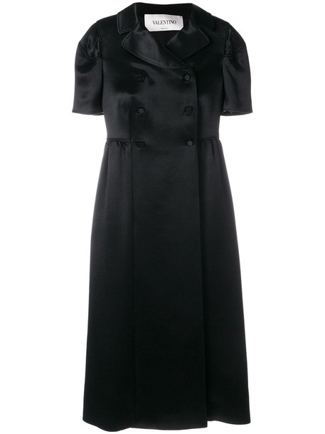 Valentino dress women black silk