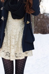 tights,print,holidays,winter outfits,winter dress,knit,scarf,crochet,lace up,lace dress,black and white,short,short dress,beige,sexy dress,blouse,dark,coat,jacket,cardigan,cable,long,long sleeves,classy,polka dots,black tights,fall outfits,holiday coat,holiday season,winter jacket,knitted cardigan,knitwear,knitted scarf,white dress,dark blue,dark blue dress,chunky,snow,casual,fashion,style,classy dress,streetwear,streetstyle,cozy,dress