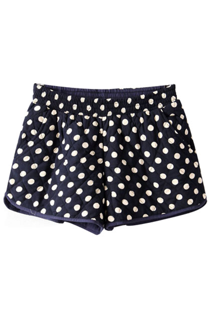 ROMWE | ROMWE Polka Dots Print Shorts, The Latest Street Fashion