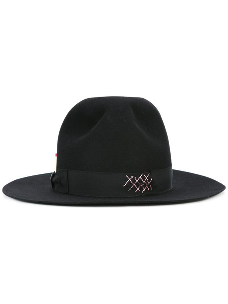 hat fedora black
