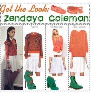 blouse sweatshirt jumper orange zendaya heels teen style jewelry lace skirt skirt style fashion teenagers cute high heels white skirt