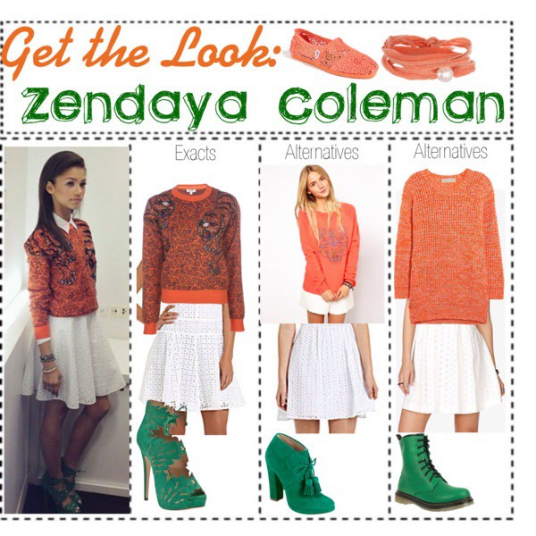 blouse sweatshirt jumper orange zendaya heels teen style jewelry lace skirt skirt style fashion teenagers cute high heels white skirt