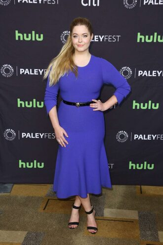 dress midi dress blue blue dress sasha pieterse pretty little liars sandals
