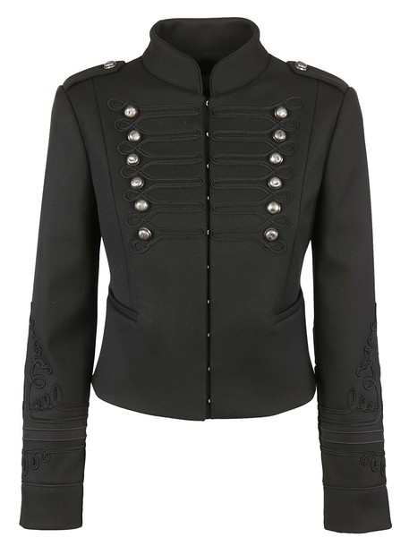 RED VALENTINO jacket cropped braided black