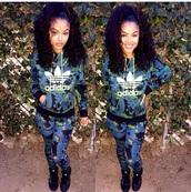 jumpsuit,adidas,india westbrooks,india love,pants,floral green adidas pants,adidas tracksuit,blue