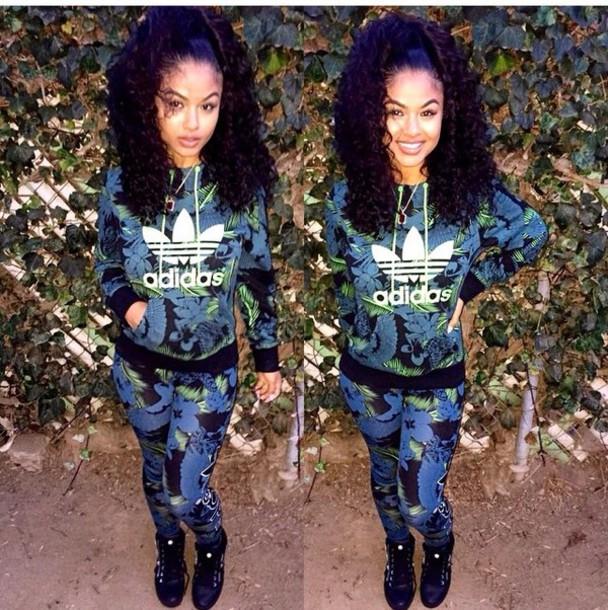 cc8c2f9f8b27 jumpsuit adidas india westbrooks india love pants floral green adidas pants  adidas tracksuit blue