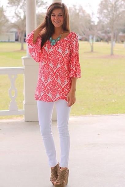 blouse bright preppy