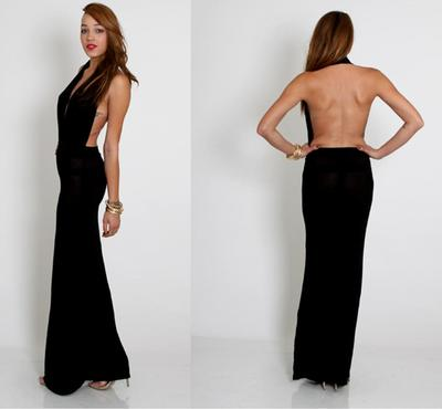 Showing some back black dress · trendyish · online store powered by storenvy
