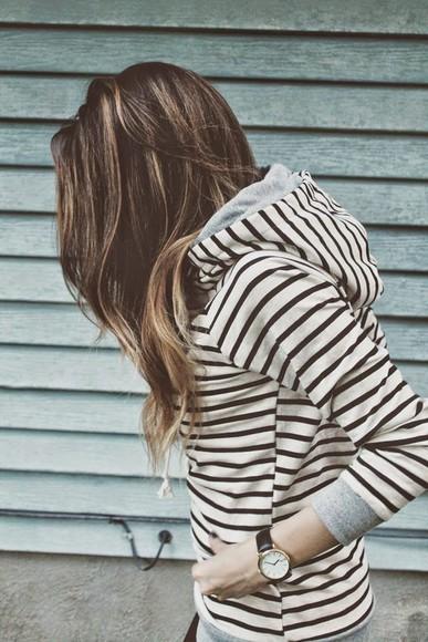 black and white stripes hoodie black and white stripes