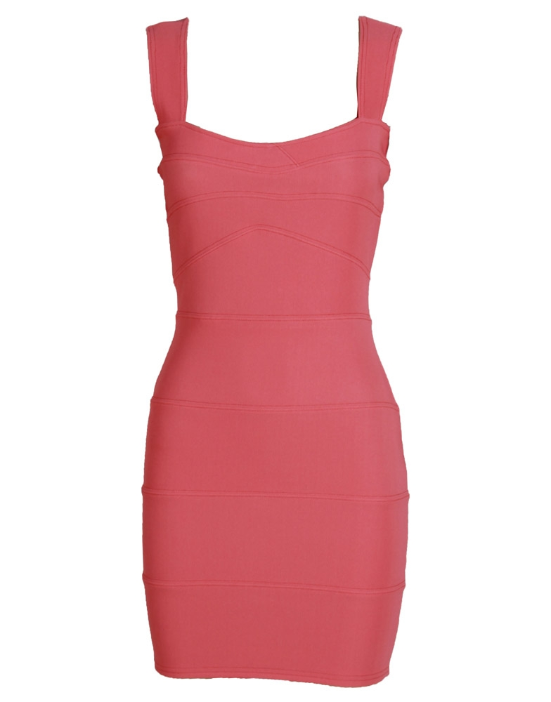 Pink Sleeveless Bandage Bodycon Dress