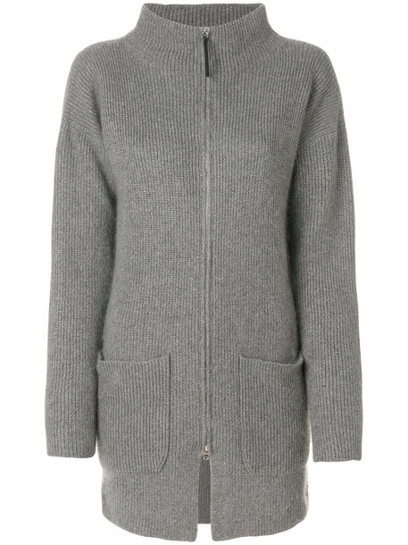 Fabiana Filippi cardigan cardigan zip women mohair grey sweater