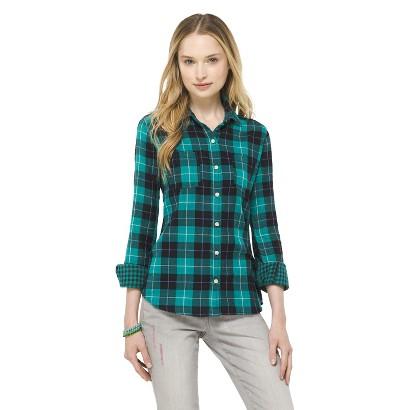 Junior's Plaid Button Down Shirt
