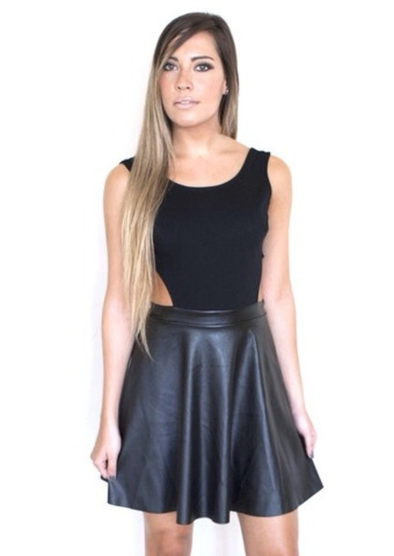 dress little black dress black black leather dress skater skater dress open back open back dresses