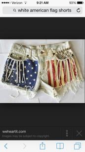 shorts,american flag shorts,american flag,fringes,fringe shorts,flag,High waisted shorts