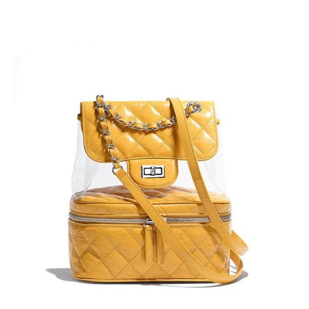 d49b59eb560 bag clear pvc backpack transparent bag adidas clear bag pvc bag fashion bags  yellow bag handbag