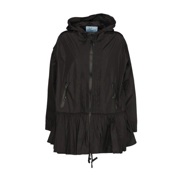 Prada Linea Rossa windbreaker pleated black jacket