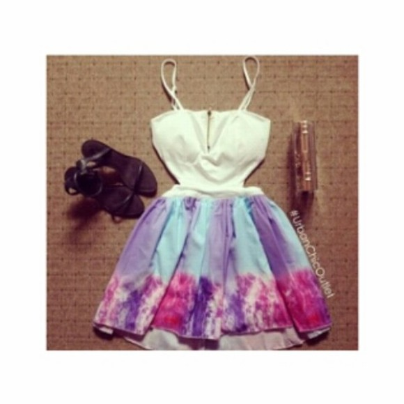pink dress purple dress purple instagram tumblr outfit dress blue dress chic bueatiful